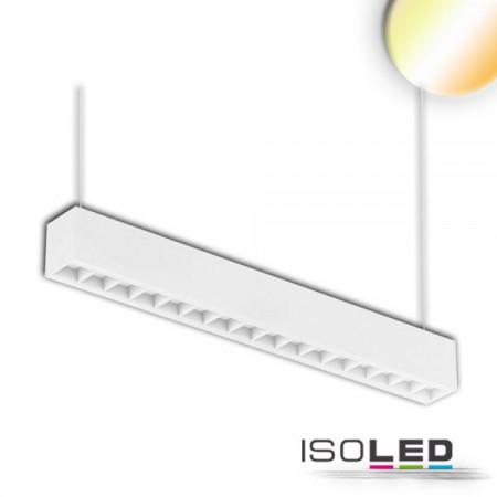 LED Aufbau/Hängeleuchte Linear Raster 20W, anreihbar, weiß, ColorSwitch 3000|3500|4000K