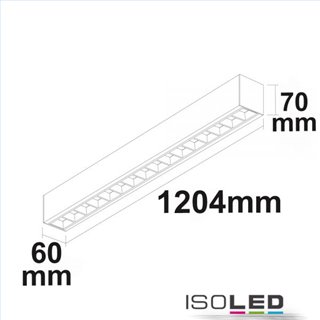 LED Aufbau/Hängeleuchte Linear Raster 40W, anreihbar, weiß, ColorSwitch 3000|3500|4000K