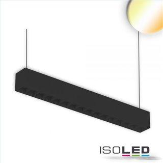 LED Aufbau/Hängeleuchte Linear Raster 20W, anreihbar, schwarz, ColorSwitch 3000|3500|4000K