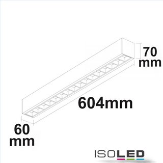 LED Aufbau/Hängeleuchte Linear Raster 20W, anreihbar, schwarz, ColorSwitch 3000 3500 4000K