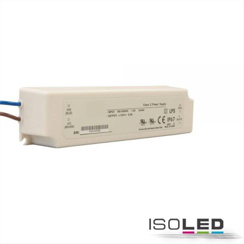 LED Trafo 24V/DC, 0-60W, IP67
