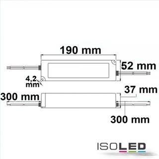 LED Trafo 24V/DC, 0-100W, IP67