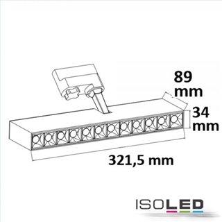 3-PH Raster-Schienen-Strahler, 35W, 45°, weiß matt, neutralweiß