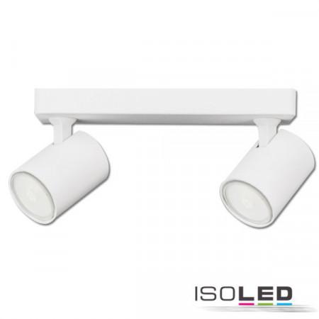 Wand- und Deckenleuchte GU10 Dual, IP20, weiß matt, exkl. Leuchtmittel