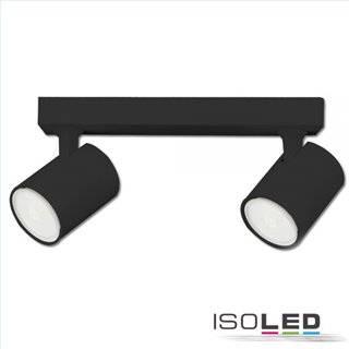 Wand- und Deckenleuchte GU10 Dual, IP20, schwarz matt, exkl. Leuchtmittel