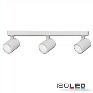 Wand- und Deckenleuchte GU10 Triple, IP20, weiß matt, exkl. Leuchtmittel