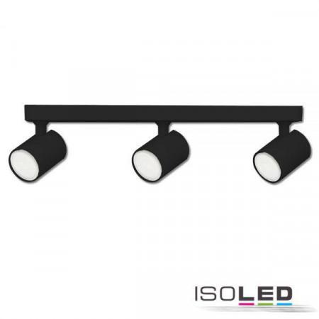 Wand- und Deckenleuchte GU10 Triple, IP20, schwarz matt, exkl. Leuchtmittel