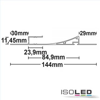 LED Trockenbauleuchte Single Curve, weiß RAL 9010 200cm