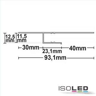 LED Trockenbauprofil Schattenfuge 40, weiß RAL 9010 200cm