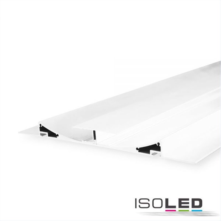 LED Trockenbau-Leuchtenprofil Double Curve, weiß RAL 9010 200cm