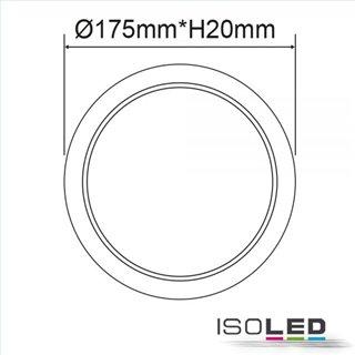 LED Downlight Flex 15W, UGR19, 120°, Lochausschnitt 50-160mm, warmweiß, dimmbar