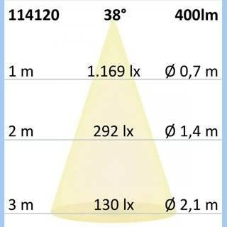 LED Spot GU10, 5W, 38°, 3000K, externe Anschlussbox, dimmbar