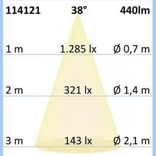 LED Spot GU10, 5W, 38°, 4000K, externe Anschlussbox, dimmbar