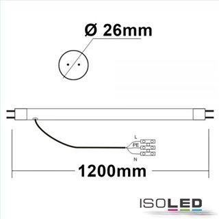 T8 LED Röhre, 120cm, 22W, Highline+, neutralweiß, frosted