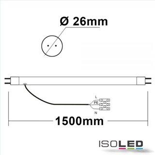 T8 LED Röhre, 150cm, 33W, Highline+, kaltweiß, frosted