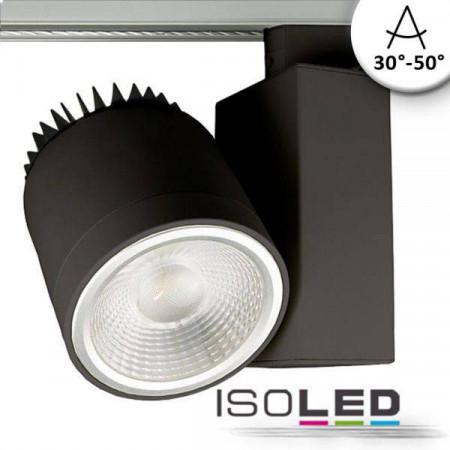 3-PH Schienen-Strahler fokussierbar, 35W, 30°-50°, schwarz matt, 3000K, CRI92