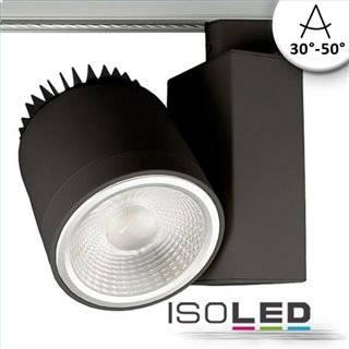 3-PH Schienen-Strahler fokussierbar, 35W, 30°-50°, schwarz matt, 3500K, CRI92
