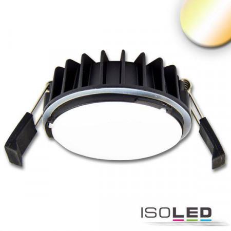 LED Einbaustrahler Sys-90, 12W, 3000K bis 4000K, Push oder DALI DT8tc oder dimmbar