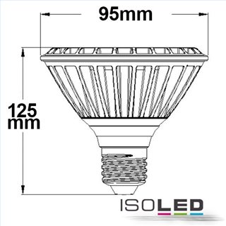 LED PAR30, E27, 230V, 32W, 30°, warmweiß