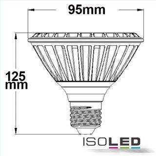 LED PAR30, E27, 230V, 32W, 30°, neutralweiß