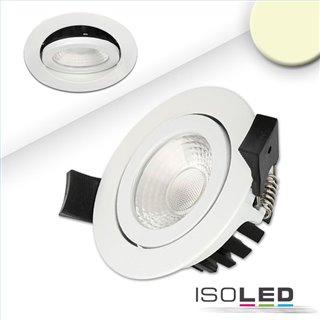 LED Einbaustrahler, weiß, 8W, IP65, 60°, rund, warmweiß, IP65, dimmbar