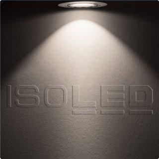 LED Einbaustrahler asymmetrisch COB, weiß, 8W, 50°, IP44, rund, neutralweiß, dimmbar