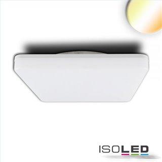 LED Decken/Wandleuchte 24W, quadratisch, IP54, ColorSwitch 3000K|4000K, weiß