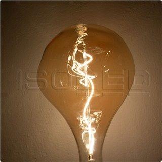 E27 Vintage Line LED Dekobirne 165, 4W ultrawarmweiß, Glas amber, dimmbar
