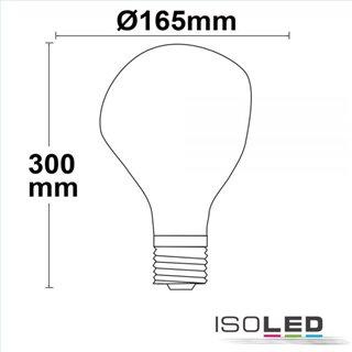 E27 Vintage Line LED Dekobirne 165, 4W ultrawarmweiß, Glas smoky, dimmbar