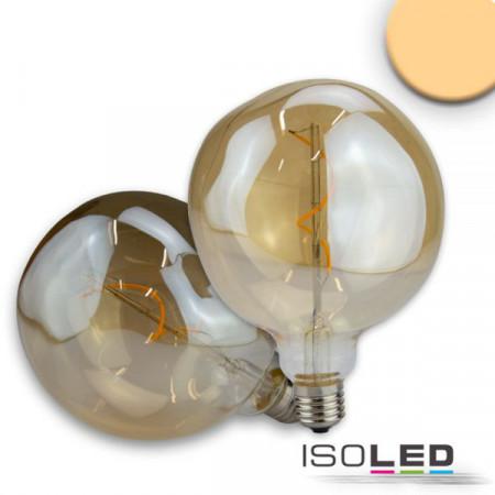 E27 Vintage Line LED Dekobirne 125, 4W ultrawarmweiß, Glas amber, dimmbar