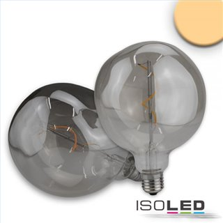 E27 Vintage Line LED Dekobirne 125, 4W ultrawarmweiß, Glas smoky, dimmbar