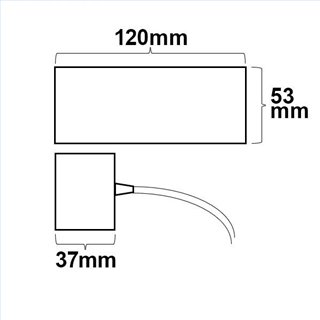 Deckenbaldachin eckig weiß inkl. 2-poliges stoffummanteltes Kabel 1,5m mit Gegenverschraubung