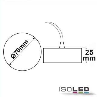 Deckenbaldachin rund weiß inkl. 2-poliges stoffummanteltes Kabel 1,5m mit Gegenverschraubung