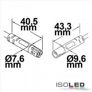 Mini-Plug Verlängerung male-female, 3m, 2x0.75, IP54, schwarz, max. 48V
