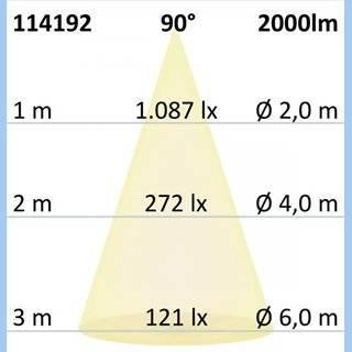 LED Downlight UGR19, 25W, rund, CRI90, Colorswitch 3000K|3500K|4000K, dimmbar