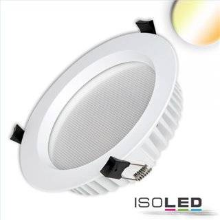 LED Downlight UGR19, 25W, rund, CRI90, Colorswitch 3000K|3500K|4000K, dimmbar