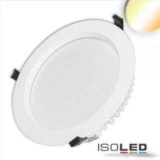 LED Downlight UGR19, 35W, rund, CRI90, Colorswitch 3000K|3500K|4000K, dimmbar