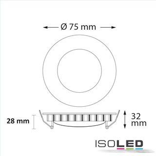 LED Hallenleuchte MS 250W, IP65 neutralweiß, 90°, 1-10V dimmbar