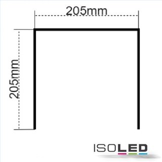 Montagebügel für LED Hallenleuchte MS 150W