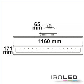 LED Hallenleuchte Linear SK 240W, IP65, weiß, neutralweiß, 30°, 1-10V dimmbar
