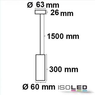Pendelleuchte 300 GU10, rund, weiß, exkl. Leuchtmittel