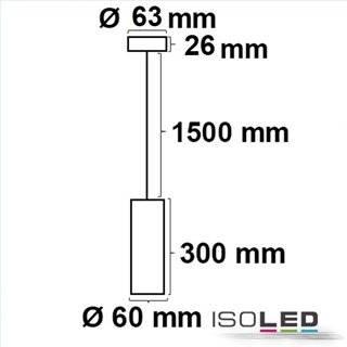 Pendelleuchte 300 GU10, rund, schwarz, exkl. Leuchtmittel