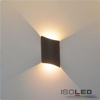 LED Wandleuchte Swing Up&Down 2*2W CREE, IP54, sandschwarz, warmweiß