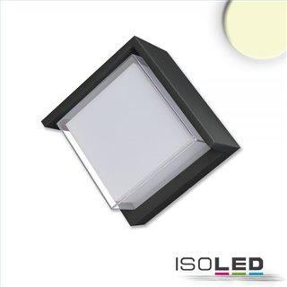 LED Wandleuchte eckig 6W, IP54, sandschwarz, warmweiß