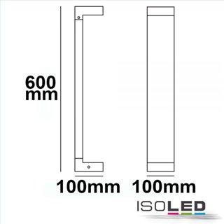 LED Wegeleuchte Poller-1, 60cm, 7W, sandschwarz, warmweiß