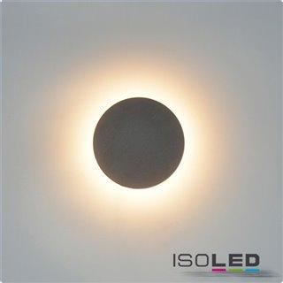 LED Wandleuchte rund 12W, IP54, sandschwarz, warmweiß