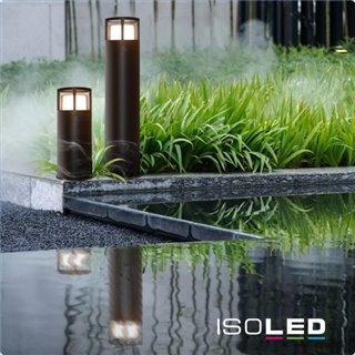 LED Wegeleuchte Poller-5, 70cm, 6W, sandschwarz, warmweiß
