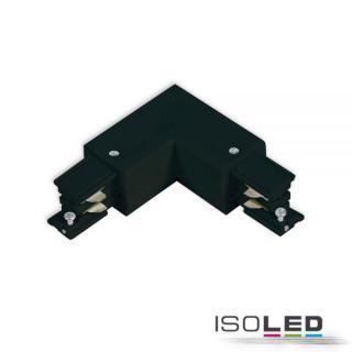 3-Phasen S1 L-Verbinder N-Leiter außen, Schutzleiter innen, schwarz