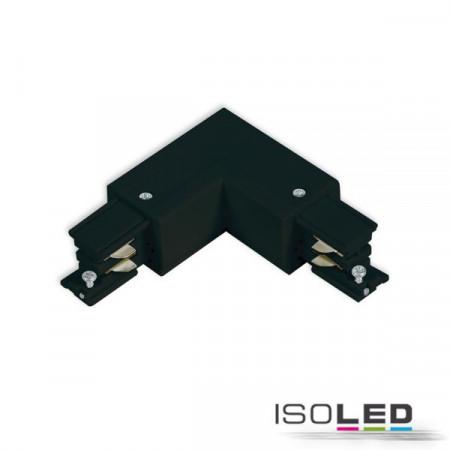 3-Phasen S1 L-Verbinder N-Leiter innen, Schutzleiter außen, schwarz