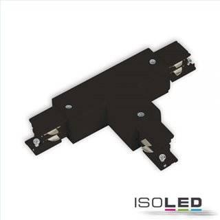 3-Phasen S1 T-Verbinder N-Leiter rechts, Schutzleiter links, schwarz